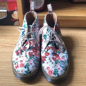 Floral Dr. Marten boot oxfords.
